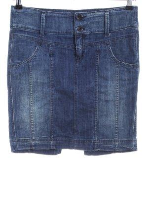 Benetton Jeans Jeansrock blau Casual-Look
