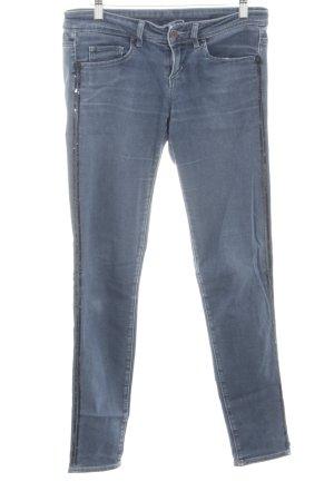 Benetton Jeans Skinny Jeans blau-schwarz Casual-Look