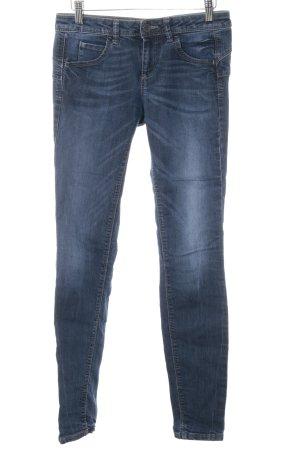 Benetton Jeans Skinny jeans donkerblauw-staalblauw casual uitstraling