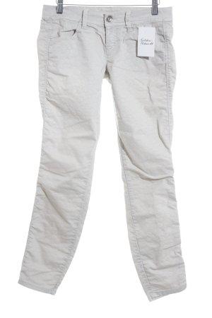 Benetton Jeans Skinny Jeans hellgrau-creme Animalmuster klassischer Stil
