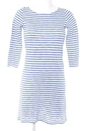 Benetton Jerseykleid wollweiß-kornblumenblau Streifenmuster Casual-Look