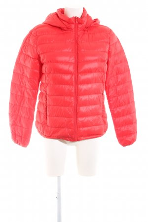 Benetton Hoody red quilting pattern casual look