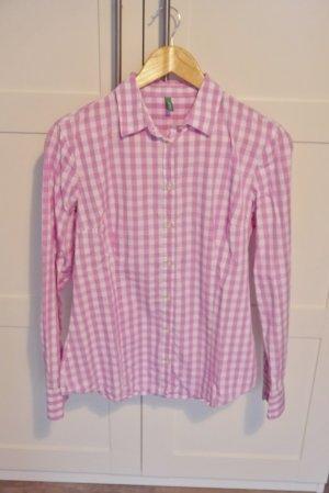 Benetton Karo Check Bluse rosa-weiß kariert M NEUw