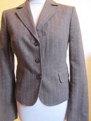 BENETTON: Klassischer Blazer, braunmeliert, Gr. 38