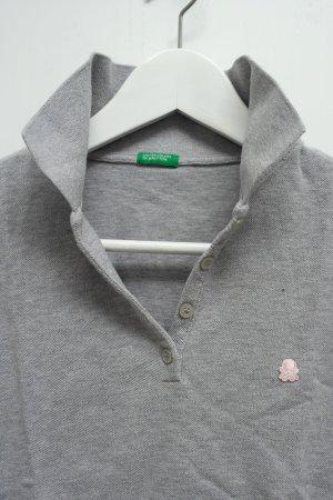Benetton - Klassisches graues Polo-Shirt