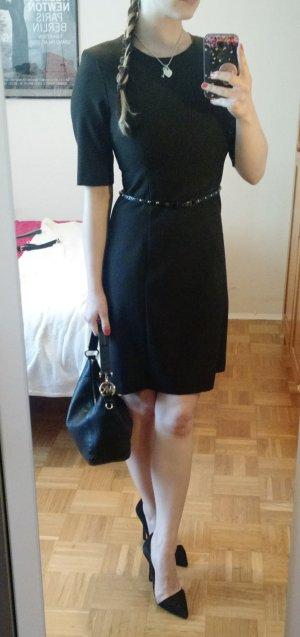 Benetton Kleid Gr S 36 braun etui etuikleid elegant Büro business office feminin