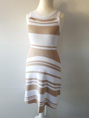 BENETTON Kleid, Gr.XS, beige/weiß, Strech