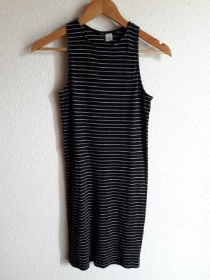 Benetton. Kleid. schwarz/grau.
