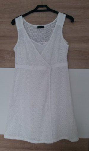 Benetton Kleid Sommerkleid Wickelkleid 2tlg Spitze Lace S