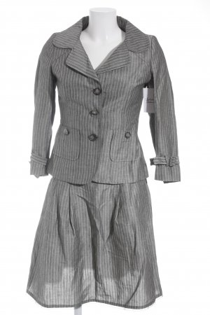 Benetton Ladies' Suit grey pinstripe business style