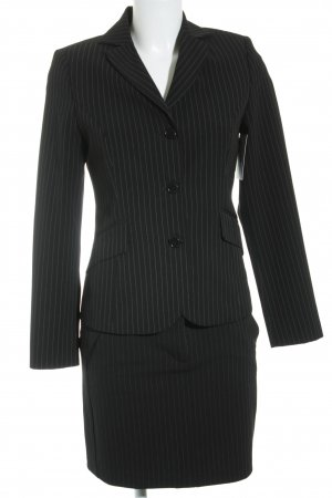 Benetton Ladies' Suit black-white pinstripe business style