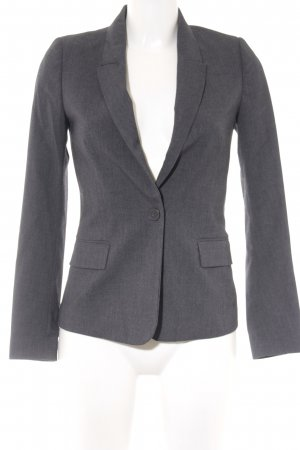 Benetton Kurz-Blazer anthrazit meliert Business-Look