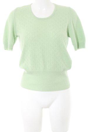 Benetton Pull à manches courtes vert motif graphique style décontracté