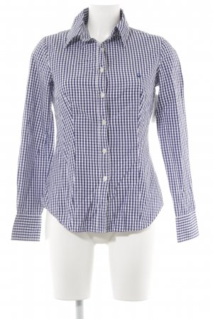 Benetton Long Sleeve Shirt white-dark blue check pattern casual look