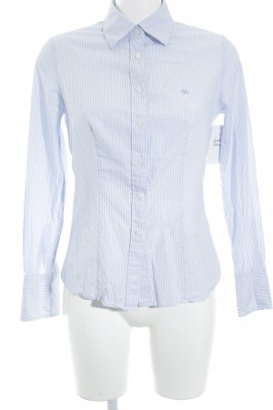 Benetton Long Sleeve Shirt white-azure striped pattern business style