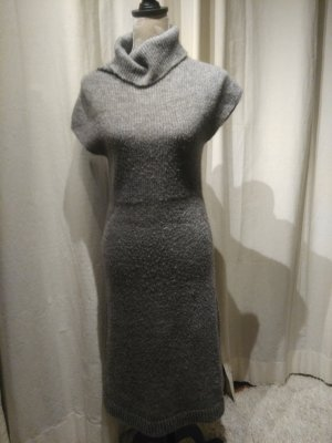 Benetton langes Strickkleid grau Gr. S/M