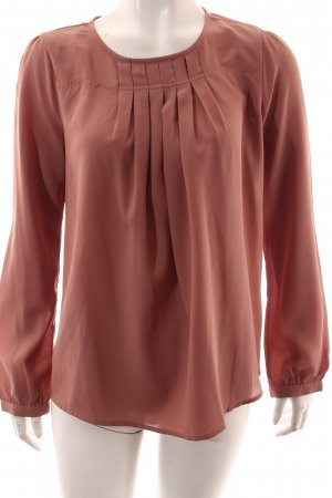 Benetton Blouse en cuir vieux rose style simple