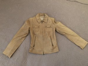 Benetton Leather Jacket camel