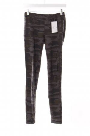 Benetton Leggings dark green-green grey camouflage pattern military look