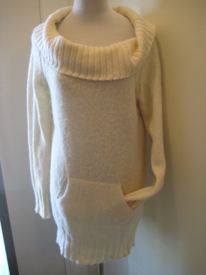 Benetton Long Sweater natural white-oatmeal mohair