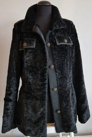 Benetton Abrigo de piel sintética negro
