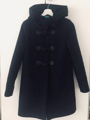 Benetton Duffle-coat bleu foncé coton