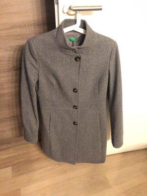 Benetton Cappotto in lana grigio