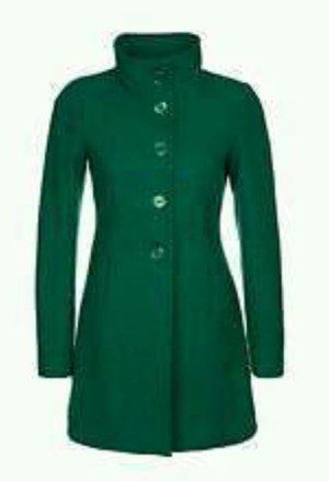 Benetton Mantel, Wollmantel, 34, grün, bottle green, neuwertig