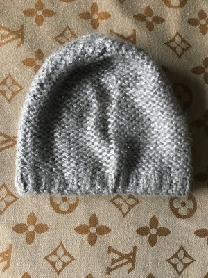 Benetton Bonnet en crochet multicolore
