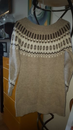 Benetton Norweger Pullover Kleid Gr.34 (It. M)