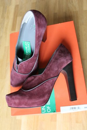 Benetton Nubukleder High Heels !NEU! + Beauty-Überraschung*