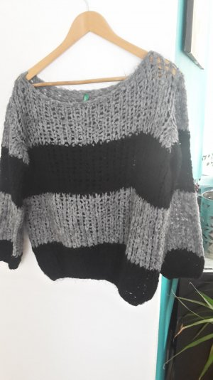 Benetton Oversize Pullover Strick mit Mohair