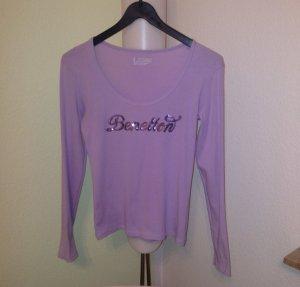 BENETTON Pailetten Shirt lila Gr. M