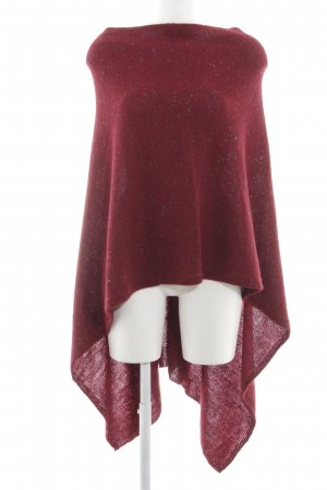 Benetton Poncho red flecked casual look