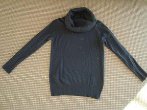Benetton Jersey de lana gris pizarra Lana