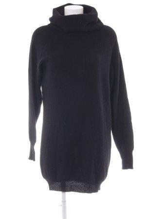 Benetton Pulloverkleid schwarz Webmuster Casual-Look