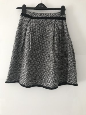 Benetton Wool Skirt light grey-dark grey