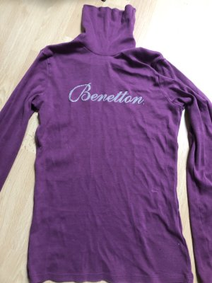 Benetton Sweat Shirt grey lilac-silver-colored