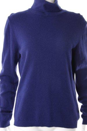 Benetton Rollkragenpullover blau