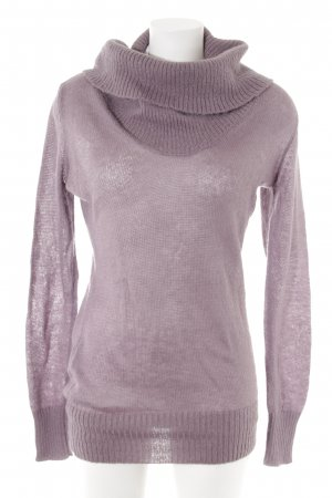 Benetton Turtleneck Sweater grey violet casual look