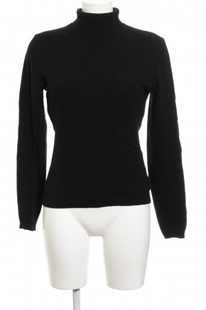 Benetton Turtleneck Sweater black classic style
