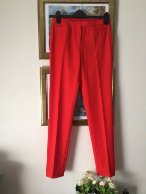 Benetton rote Stoffhose schmal 36