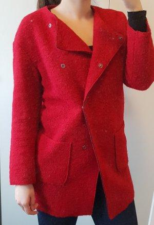 Benetton Cappotto rosso scuro-rosso mattone Lana