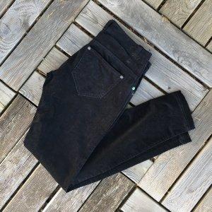 Benetton Pantalón de cinco bolsillos negro Algodón