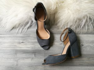 Benetton High-Heeled Sandals slate-gray