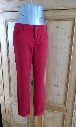 Benetton Jeans vita bassa rosso mattone Cotone