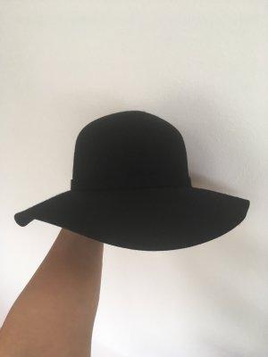Benetton Sombrero de fieltro negro Lana
