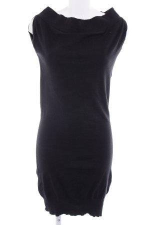 Benetton Schlauchkleid schwarz schlichter Stil