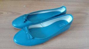 Benetton Schuhe Ballerina Gr. 36 Schleife türkis