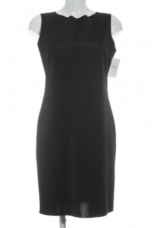 Benetton schulterfreies Kleid schwarz Business-Look